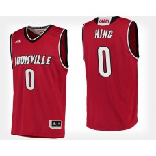 Louisville Cardinals #0 V.J. King Red Home College Basketball Jersey