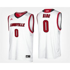 Louisville Cardinals #0 V.J. King White Road College Basketball Jersey