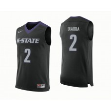 Kansas State Wildcats #2 Cartier Diarra Black College Basketball Jersey
