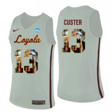 Loyola (Chi) Ramblers #13 Clayton Custer White College Basketball Jersey