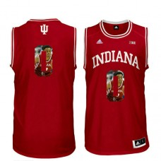 Indiana Hoosiers #0 Curtis Jones Red College Basketball Jersey