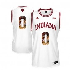 Indiana Hoosiers #0 Curtis Jones White College Basketball Jersey