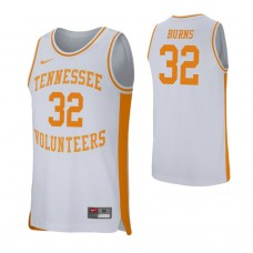 Tennessee Volunteers #32 D.J. Burns White College Basketball Jersey
