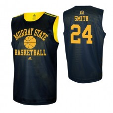 Murray State Racers #1 DaQuan Smith Navy Blue College Basketball Jersey