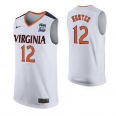 Virginia Cavaliers #12 De'Andre Hunter White 2019 Final Four College Basketball Jersey