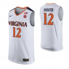 Virginia Cavaliers #12 De'Andre Hunter White College Basketball Jersey
