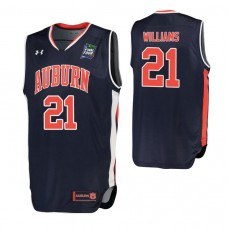 Auburn Tigers #21 Devontae Williams Navy 2019 Final Four College Basketball Jersey