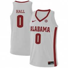 Alabama Crimson Tide #0 Donta Hall White College Basketball Jersey