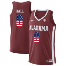 Alabama Crimson Tide #0 Donta Hall Red College Basketball Jersey