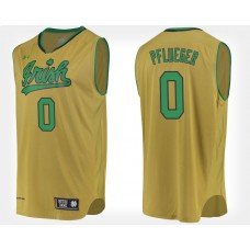 Notre Dame Fighting Irish #0 Rex Pflueger Gold Alternate College Basketball Jersey