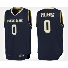 Notre Dame Fighting Irish #0 Rex Pflueger Navy College Basketball Jersey