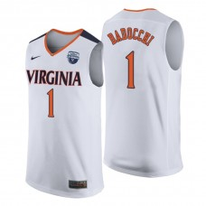 Virginia Cavaliers #1 Francesco Badocchi 2019 NCAA Tournament Champions Basketball White Jersey
