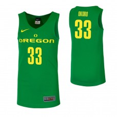 Oregon Ducks #33 Francis Okoro Green College Basketball Jersey