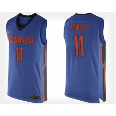Florida Gators #11 Chris Chiozza Blue Home College Basketball Jersey