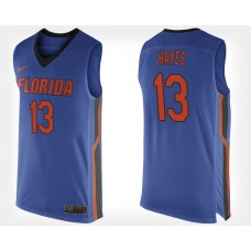 Florida Gators #13 Kevarrius Hayes Blue Home College Basketball Jersey