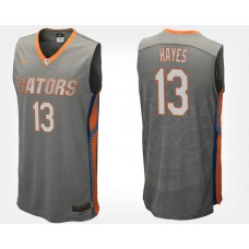 Florida Gators #13 Kevarrius Hayes Gray Road College Basketball Jersey