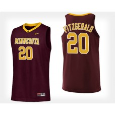Minnesota Golden Gophers #20 Davonte Fitzgerald Maroon Home College Basketball Jersey