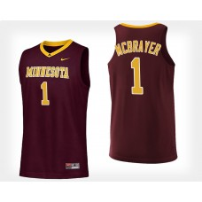 Minnesota Golden Gophers #1 Dupree McBrayer Maroon College Basketball Jersey