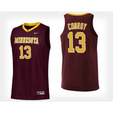 Minnesota Golden Gophers #13 Hunt Conroy Maroon Home College Basketball Jersey