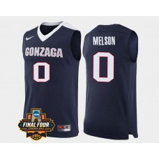 Gonzaga Bulldogs #0 Silas Melson Navy Road College Basketball Jersey