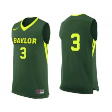 Baylor Bears #3 Jake Lindsey Green College Basketball Jersey