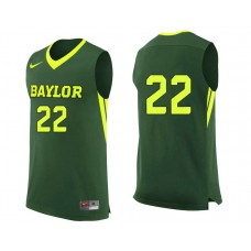 Baylor Bears #22 King McClure Green College Basketball Jersey