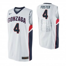 Gonzaga Bulldogs #4 Greg Foster White College Basketball Jersey