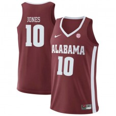 Alabama Crimson Tide #10 Herbert Jones Red College Basketball Jersey