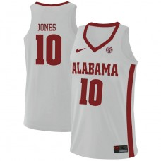 Alabama Crimson Tide #10 Herbert Jones White College Basketball Jersey