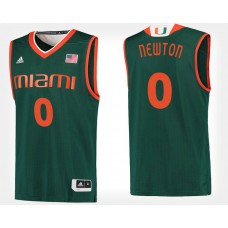 Miami Hurricanes #0 Ja'Quan Newton Green College Basketball Jersey