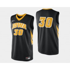 Iowa Hawkeyes #30 Aaron White Black Road College Basketball Jersey