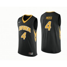 Iowa Hawkeyes #4 Isaiah Moss Black College Basketball Jersey