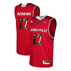 Louisville Cardinals #12 Jacob Redding Red College Basketball Jersey