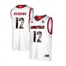 Louisville Cardinals #12 Jacob Redding White College Basketball Jersey