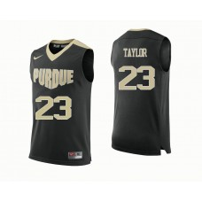 Purdue Boilermakers #23 Jacquil Taylor Black College Basketball Jersey