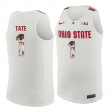 Ohio State Buckeyes #1 Jae'Sean Tate White College Basketball Jersey