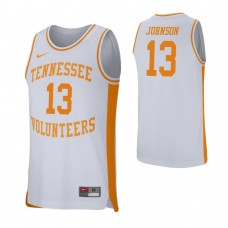 Tennessee Volunteers #13 Jalen Johnson White College Basketball Jersey