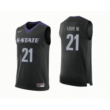 Kansas State Wildcats #21 James Love III Black College Basketball Jersey