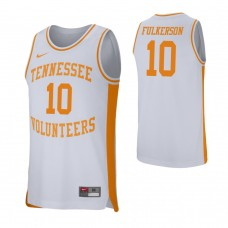 Tennessee Volunteers #10 John Fulkerson White College Basketball Jersey