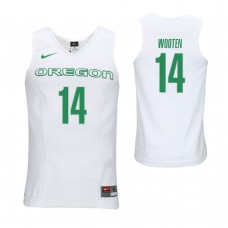 Oregon Ducks #14 Kenny Wooten White College Basketball Jersey