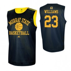 Murray State Racers #23 KJ Williams Navy Blue College Basketball Jersey