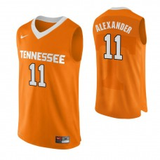 Tennessee Volunteers #11 Kyle Alexander Authentic Performace Orange Jersey