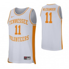 Tennessee Volunteers #11 Kyle Alexander White College Basketball Jersey