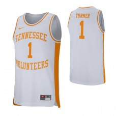 Tennessee Volunteers #1 Lamonte Turner White College Basketball Jersey
