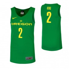 Oregon Ducks #2 Louis King Green College Basketball Jersey