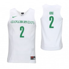 Oregon Ducks #2 Louis King White College Basketball Jersey