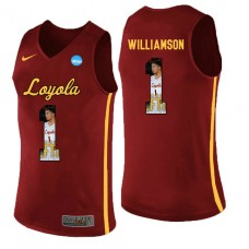 Loyola (Chi) Ramblers #1 Lucas Williamson Red College Basketball Jersey