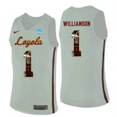 Loyola (Chi) Ramblers #1 Lucas Williamson White College Basketball Jersey