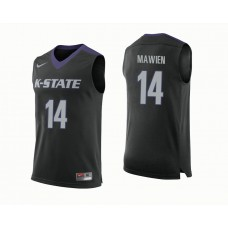 Kansas State Wildcats #14 Makol Mawien Black College Basketball Jersey