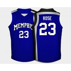 Memphis Tigers #23 Derrick Rose Blue Road College Basketball Jersey